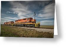 Indiana Southern Railroad Locomotives At Edwardsport Indina Greeting Card