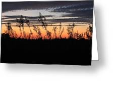 Indiana Sunset Greeting Card