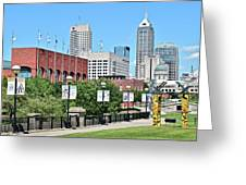 Indianapolis From The Park Greeting Card