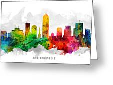 Indianapolis Indiana Cityscape 12 Greeting Card