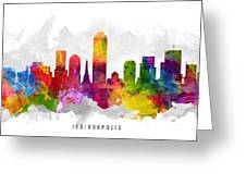 Indianapolis Indiana Cityscape 13 Greeting Card