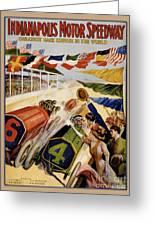 Indianapolis Motor Speedway Vintage Poster 1909 Greeting Card