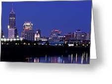 Indianapolis Panorama Greeting Card