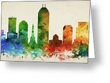Indianapolis Skyline Panorama Usinin-pa03 Greeting Card