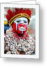 Indigenous Woman L A Greeting Card