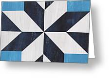 Indigo And Blue Quilt Greeting Card