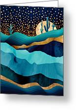 Indigo Desert Night Greeting Card