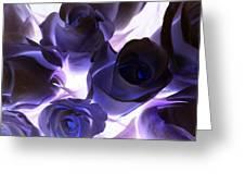 Indigo Roses Greeting Card