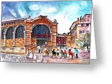 Indoor Market In Albi Greeting Card