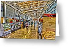 Indoor Market Greeting Card by William Norton