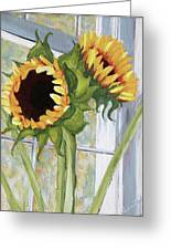 Indoor Sunflowers II Greeting Card