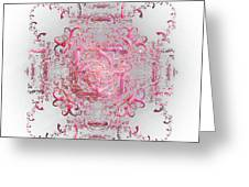Indulgent Pink Lace Greeting Card