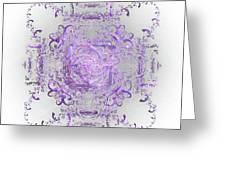 Indulgent Purple Lace Greeting Card