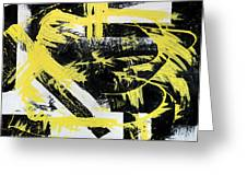 Industrial Abstract Painting I Greeting Card