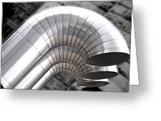 Industrial Air Ducts Greeting Card