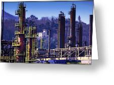 Industrial Archeology Refinery Plant 08 Greeting Card