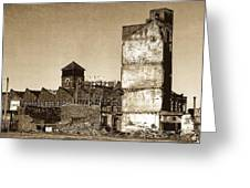 Industrial Decay Sepia 1 Greeting Card