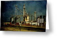 Industrial Farming In Texas Greeting Card
