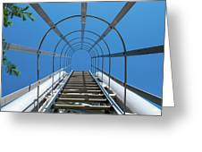 Industrial Ladder Greeting Card