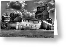 Industrial Landscape In Black And White 1 Greeting Card