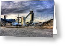 Industrial Landscape Study Number 1 Greeting Card