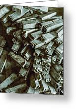 Industrial Letterpress Typeset  Greeting Card
