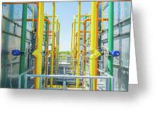 Industrial Piping Greeting Card