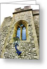 Infamous White Tower Of London Greeting Card
