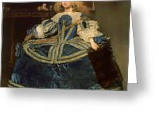 Infanta Margarita Teresa In A Blue Dress Greeting Card