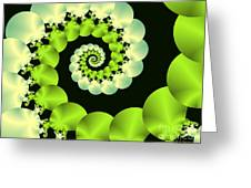 Infinite Chartreuse Greeting Card