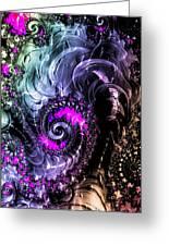 Infinite Cosmic Drain  Greeting Card