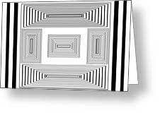 Infinite Maze 2 Greeting Card