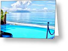 Infinity Pool And Ocean Greeting Card