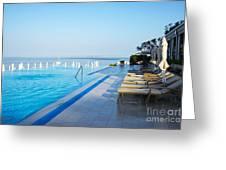 Infinity Pool Greeting Card