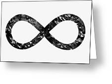 Infinity Symbol-black Greeting Card