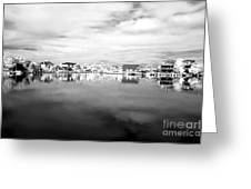 Infrared Beach Houses On The Water Greeting Card