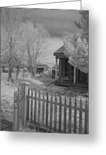 Infrared House Greeting Card