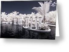 Infrared Pool Greeting Card
