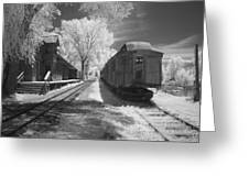 Infrared Train Greeting Card