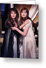 Ingrid Pitt And Madeline Smith Greeting Card
