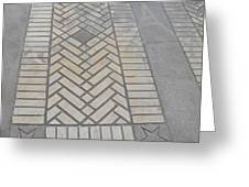 Inlayed Brick Walk Greeting Card