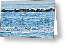 Inlet Waves Greeting Card