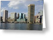 Inner Harbor - Baltimore  Maryland Greeting Card by Brendan Reals