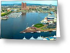 Inner Harbor Baltimore Panorama Greeting Card