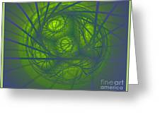Inner Light Spiral Sanctum Greeting Card