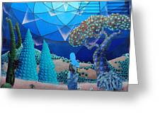 Inner Space-art On A Wall.  Greeting Card