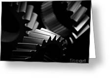 Inner Workings Black And White Greeting Card