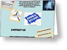 Innovation Social Business Network Greeting Card