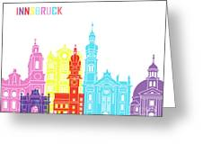Innsbruck Skyline Pop Greeting Card