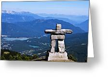 Innukshuk On Whistler Mountain Greeting Card by Marion McCristall